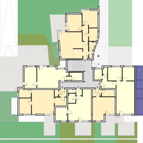 CIII Lépcsőház – Földszint