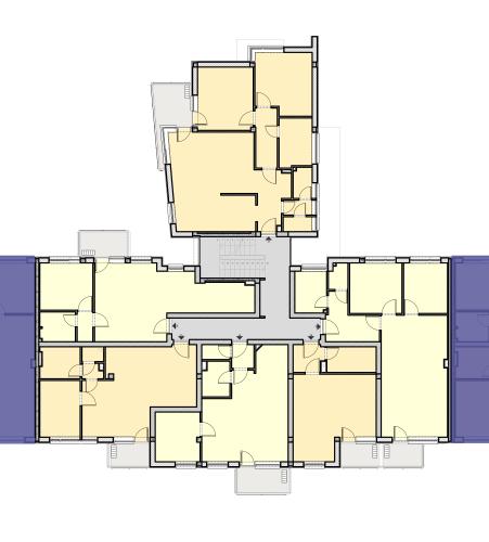 CIV Lépcsőház – 1. Emelet