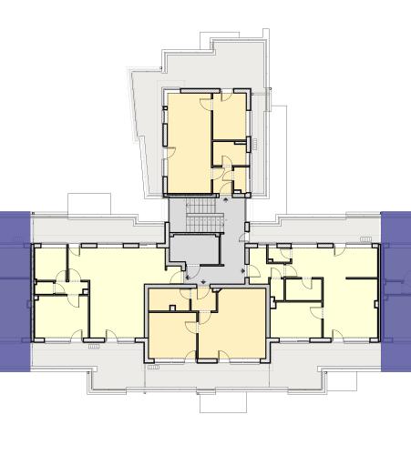 CIV Lépcsőház – 2. Emelet